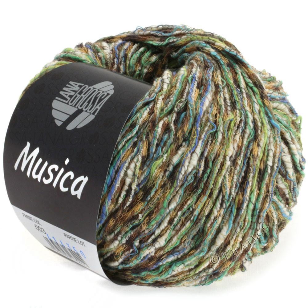 Lana Grossa MUSICA | 07-mørkebrun/lysebrun/grøn/blå/hvid