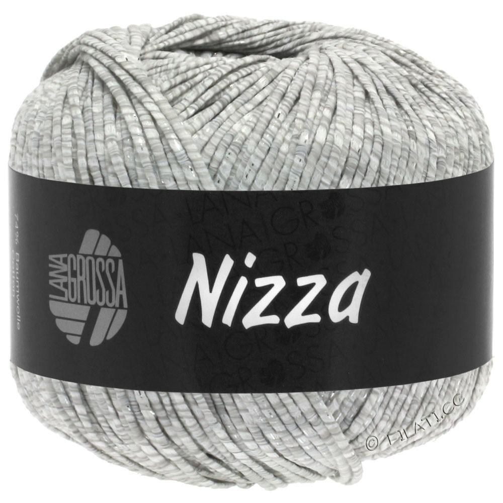 Lana Grossa NIZZA | 01-hvid/lysegrå/sølv