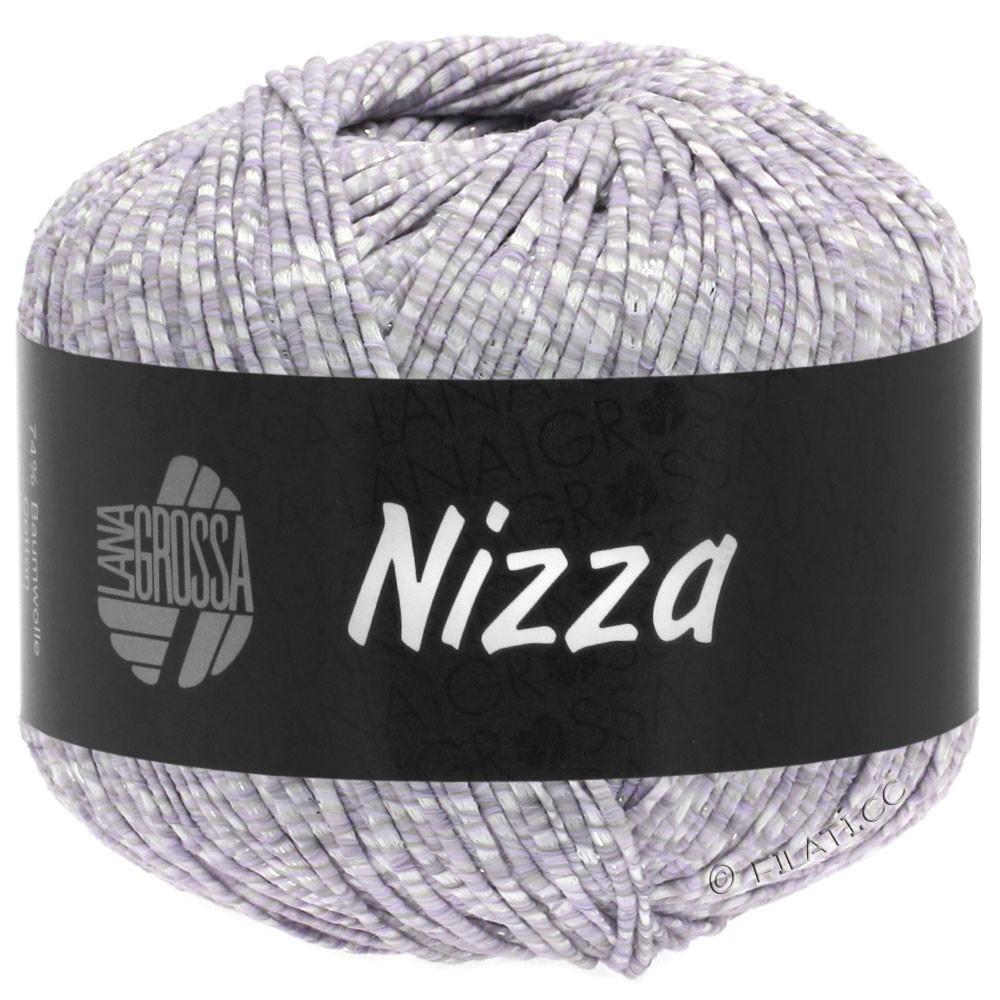 Lana Grossa NIZZA | 02-hvid/sartlilla/sølv