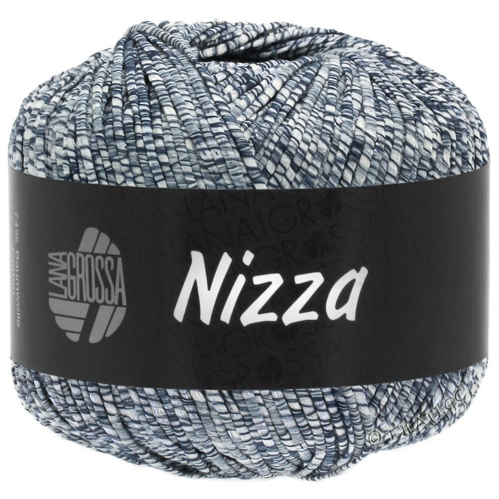 Lana Grossa NIZZA | 05-hvid/jeans/sølv