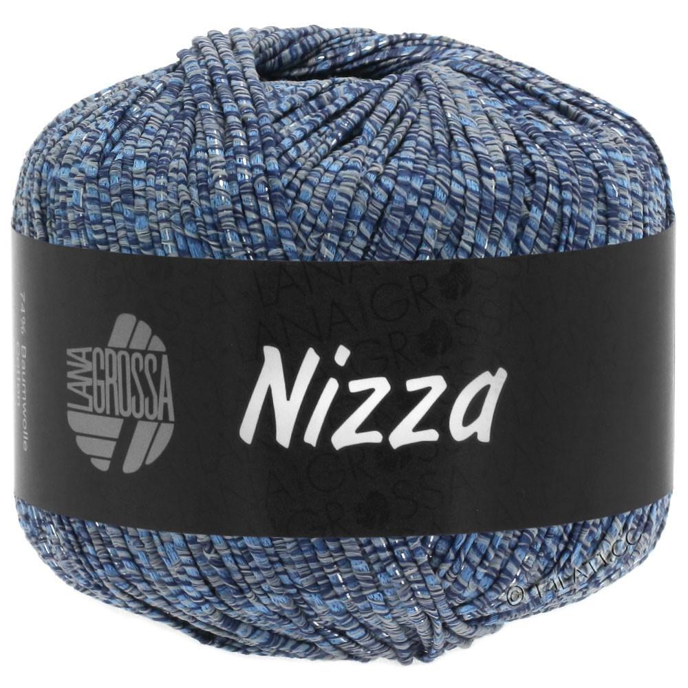 Lana Grossa NIZZA | 06-gråblå/marine/sølv