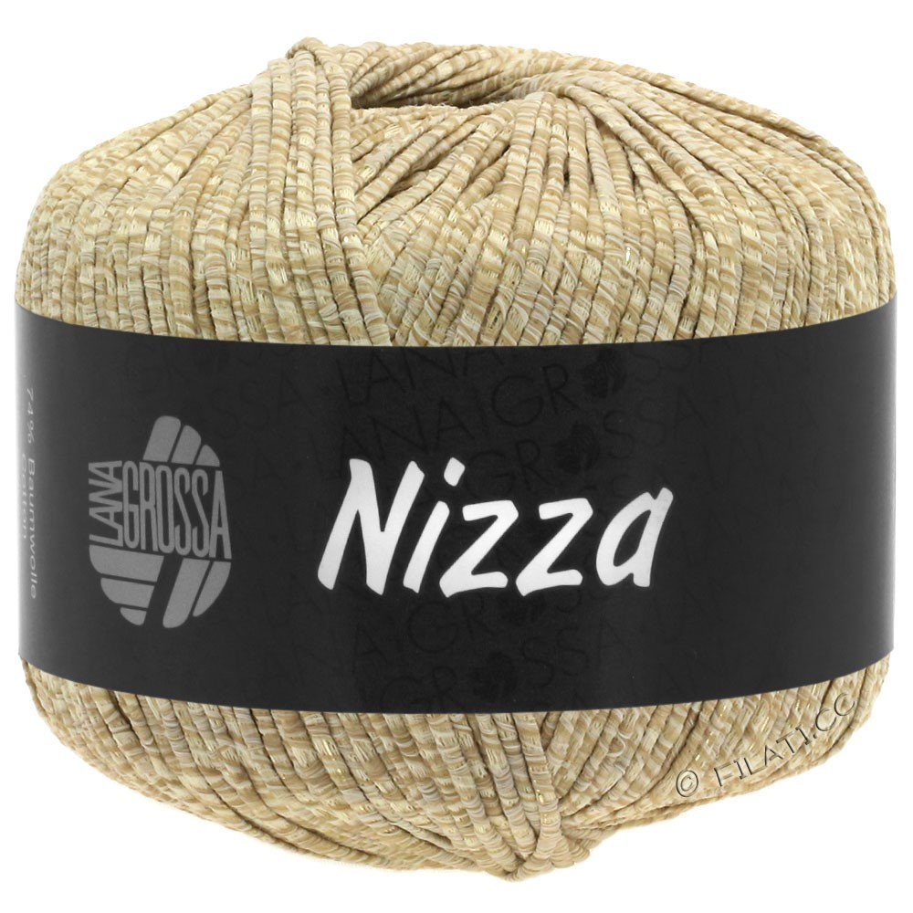 Lana Grossa NIZZA | 07-beige/sand/gylden