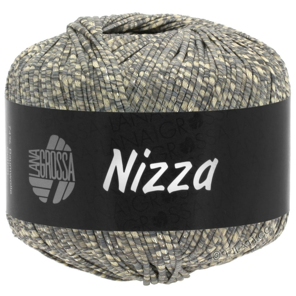 Lana Grossa NIZZA | 08-beige/grå/sølv