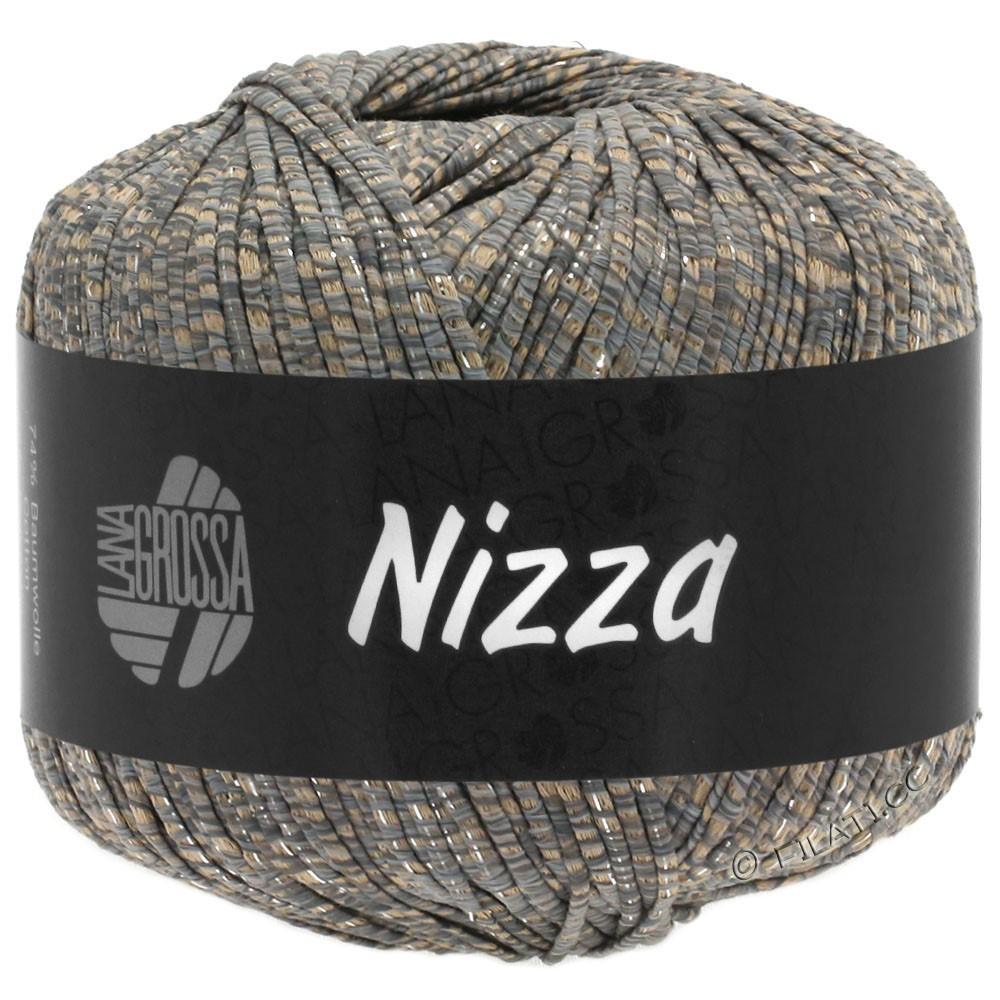 Lana Grossa NIZZA | 09-kamel/grå/sølv