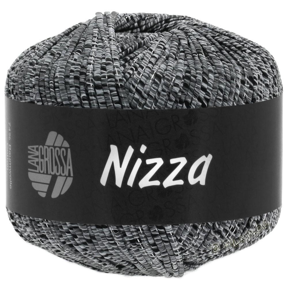 Lana Grossa NIZZA | 12-lysegrå/sort/sølv