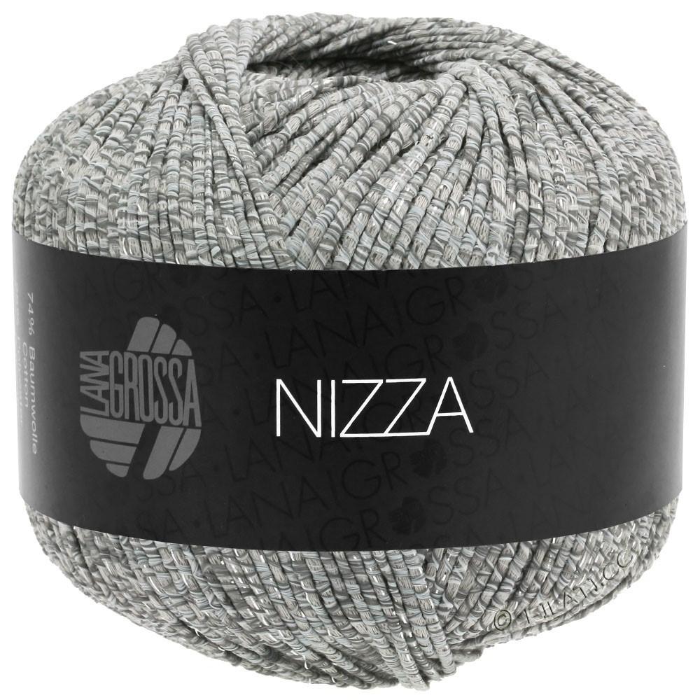 Lana Grossa NIZZA | 13-hvid/grå/beige/sølv