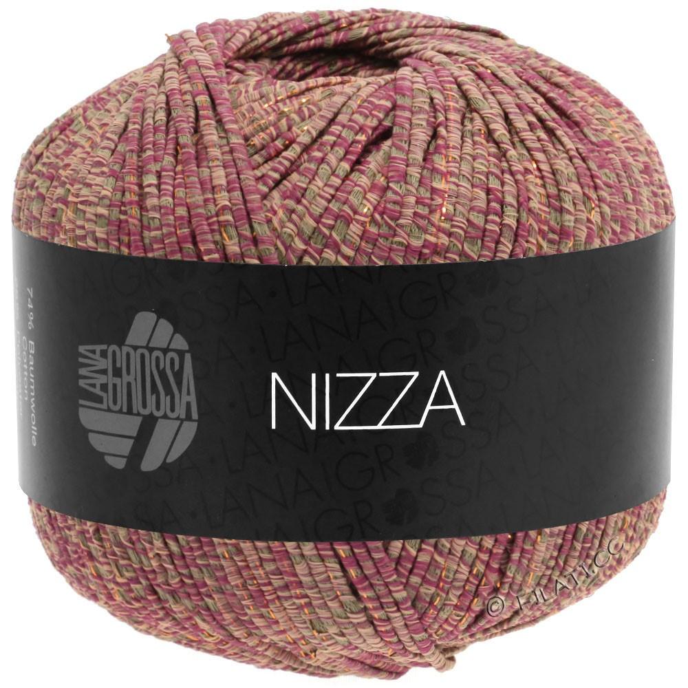 Lana Grossa NIZZA | 15-orientrød/taupe/rosa/gylden