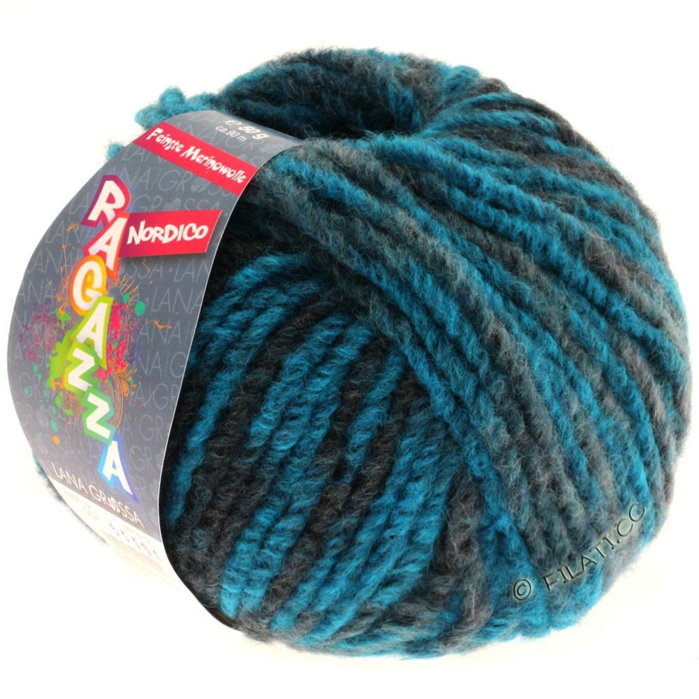 Lana Grossa NORDICO (Ragazza) | 07-petrol blå/mørke petrol