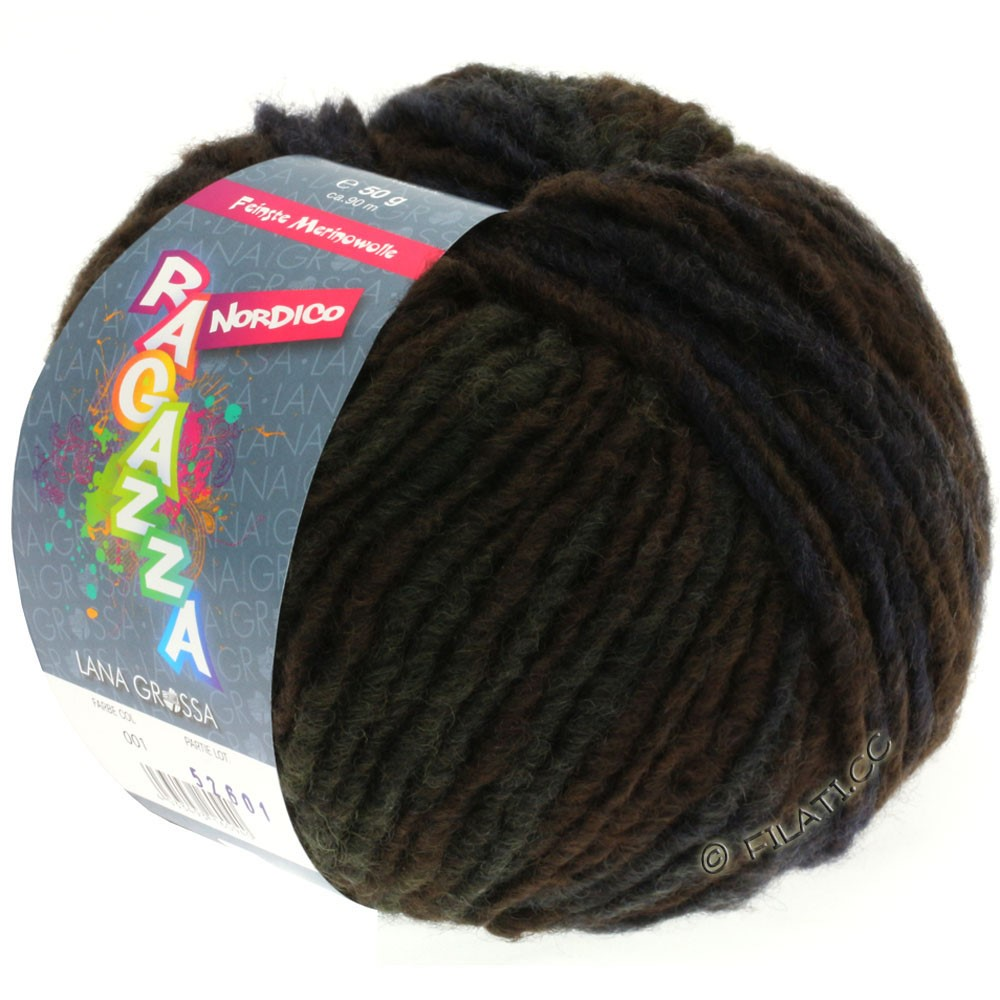 Lana Grossa NORDICO (Ragazza) | 14-mokka/gråbrun/gyldenbrun/gråblå