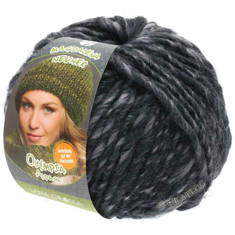 Lana Grossa OLYMPIA Alpaca | 909-grå/antracit meleret