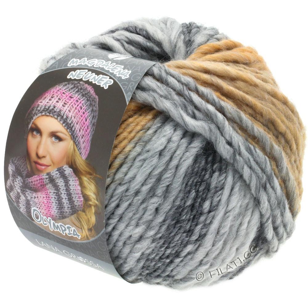 Lana Grossa OLYMPIA Grey | 806-mørkegrå/lysegrå/sartgrå/beige/kamel