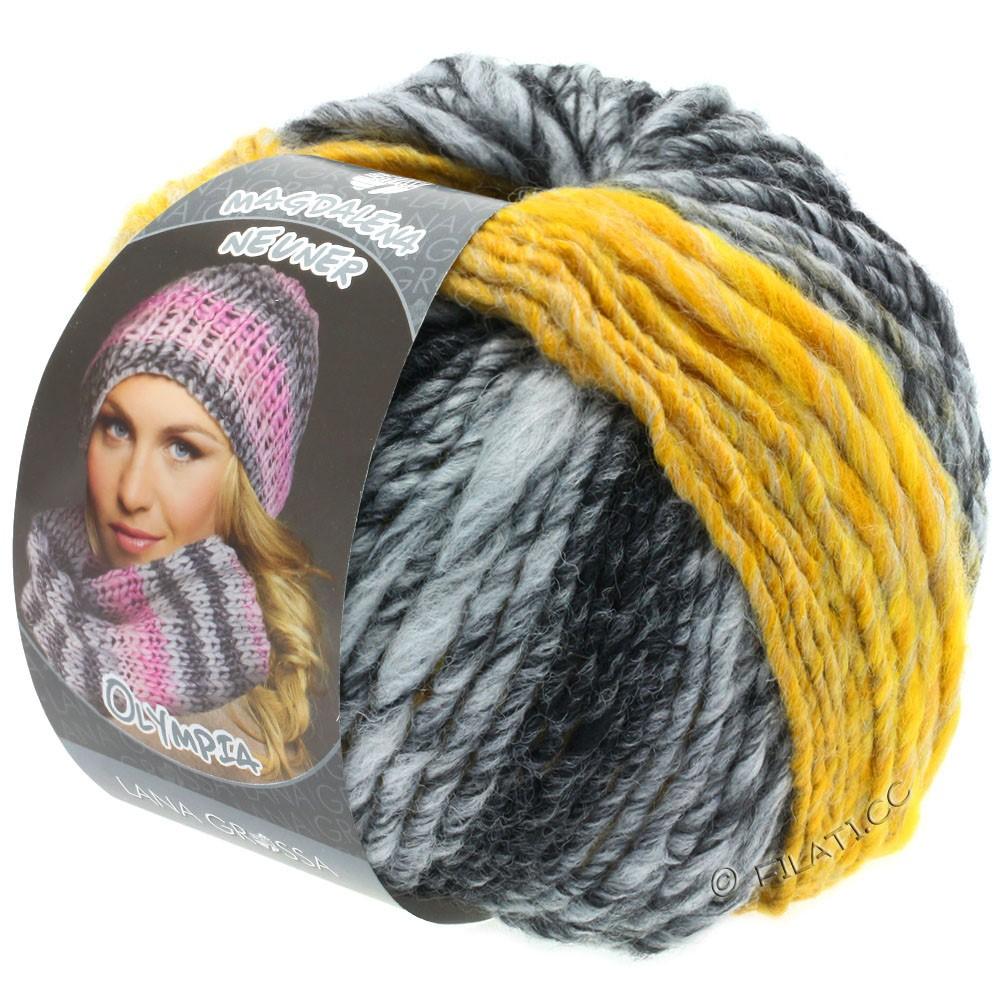 Lana Grossa OLYMPIA Grey | 810-antracit/mørkegrå/lysegrå/gul meleret