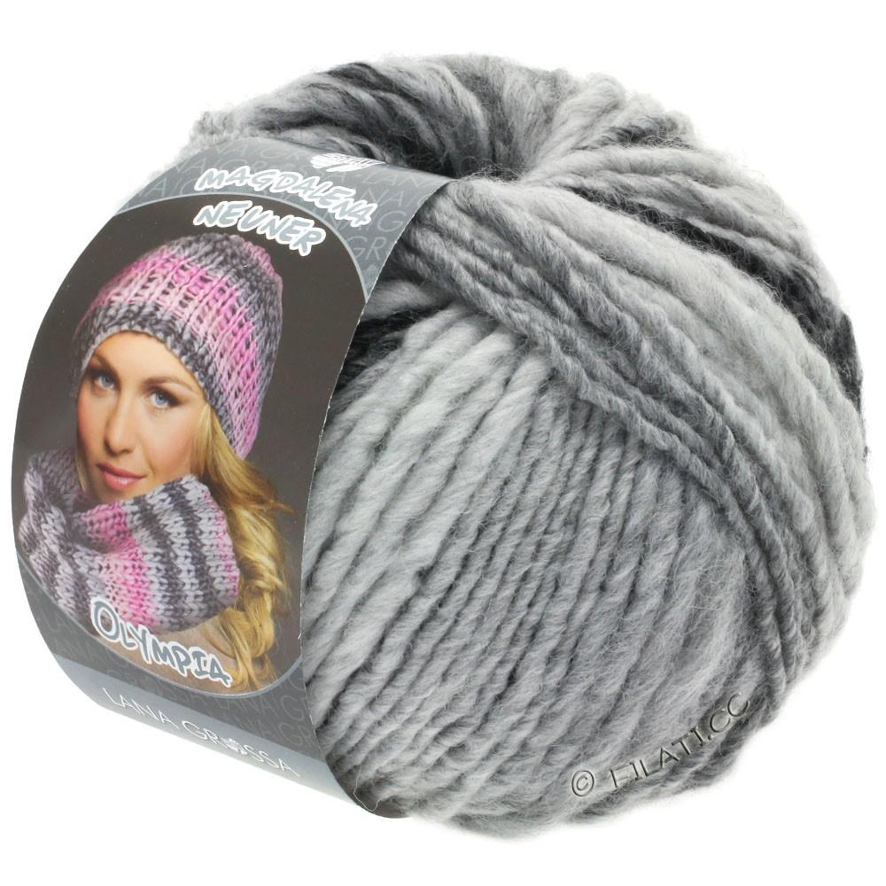 Lana Grossa OLYMPIA Grey | 812-antracit/mørkegrå/lysegrå/sølvgrå