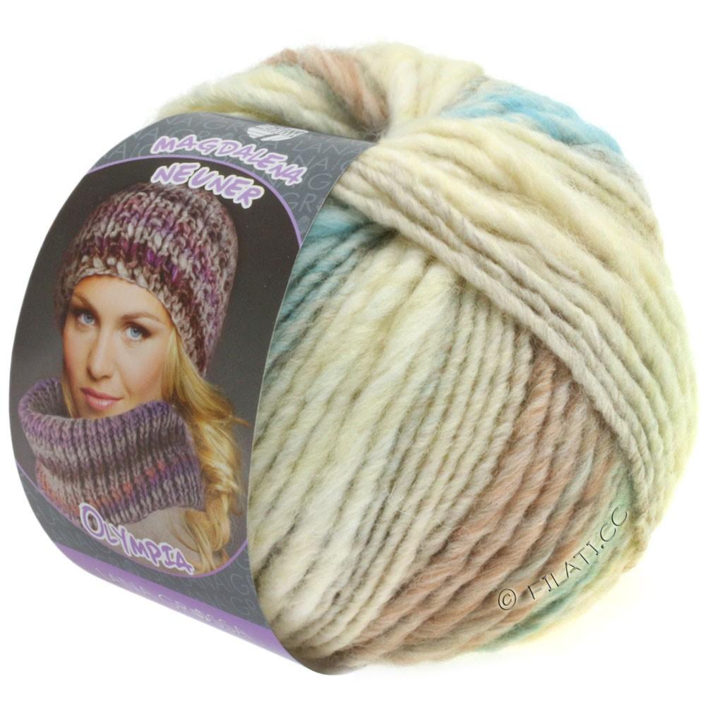 Lana Grossa OLYMPIA Pastello | 601-rå hvid/sølvgrå/lysegrå/lysegrøn/mynte/gammelrosa
