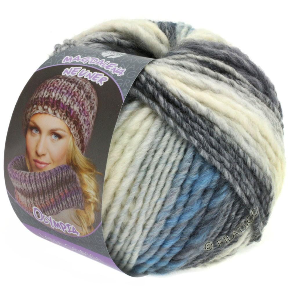 Lana Grossa OLYMPIA Pastello | 602-hvid/lysegrå/gennemsnit grå/mørkegrå/blå/lyseblå