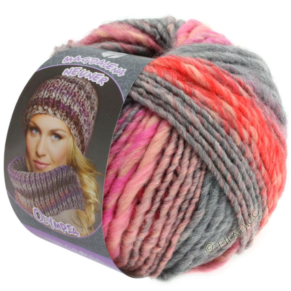Lana Grossa OLYMPIA Pastello | 603-rosa/rød/pink/grå