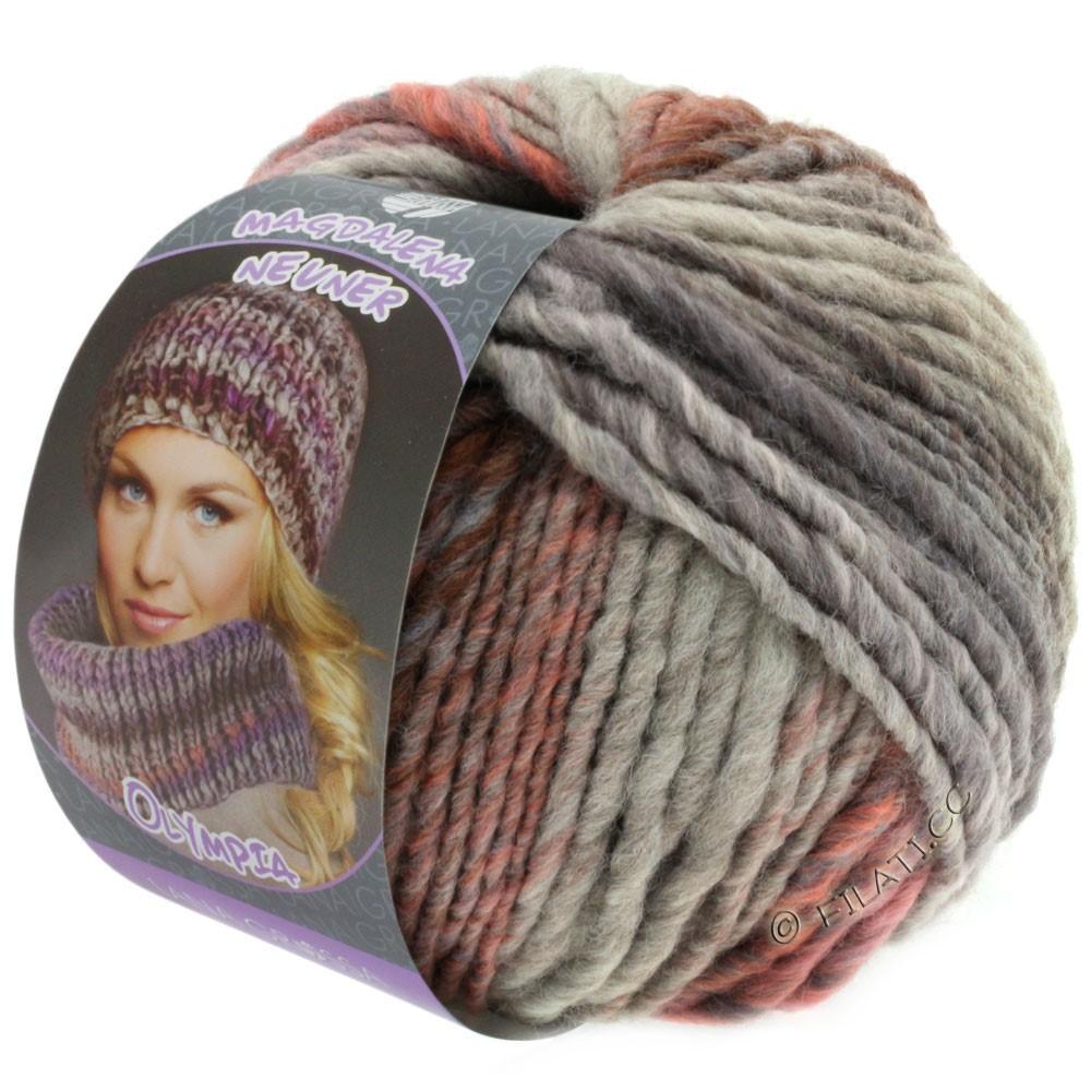 Lana Grossa OLYMPIA Pastello | 607-rosa/lilla/brun/grå purpur/lysegrå