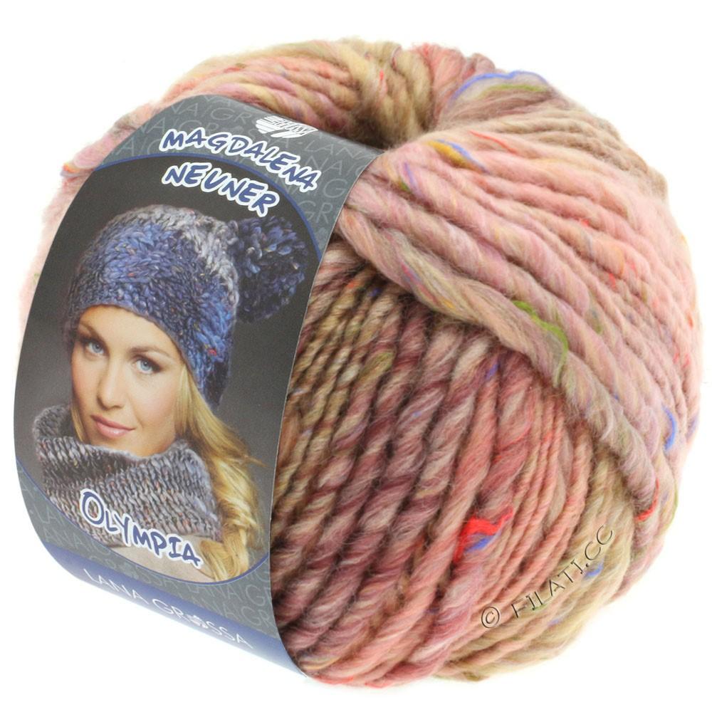 Lana Grossa OLYMPIA Tweed | 704-rosa/beige/kamel meleret