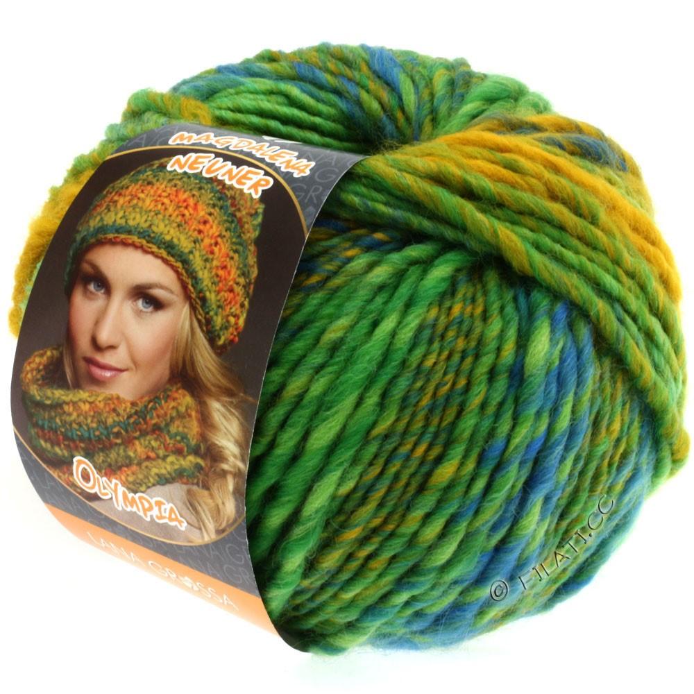 Lana Grossa OLYMPIA Classic   041-gulgrøn/turkisgrøn/blå/majsgul/petrol