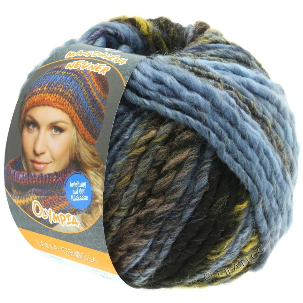 Lana Grossa OLYMPIA Classic   061-lyseblå/blågrå/oliven/mørkegrå/antracit/sort