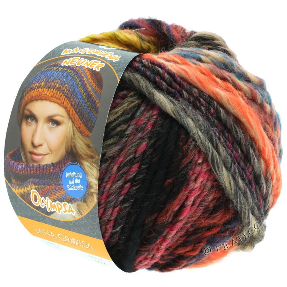 Lana Grossa OLYMPIA Classic   064-gul/kaki/mørkebrun/petrol/pink/beige/rød/orange
