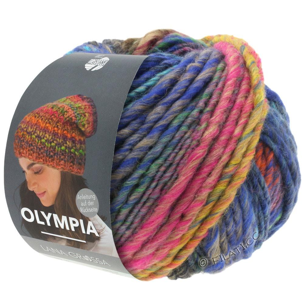 Lana Grossa OLYMPIA Classic   065-pink/kobber/petrol/kaki/mørkeblå/grøngul/turkis