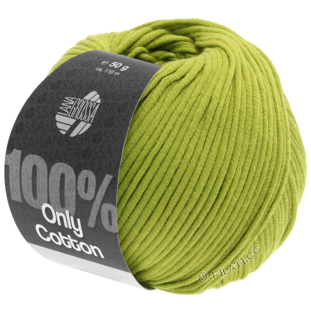 Lana Grossa ONLY COTTON | 10-gulgrøn