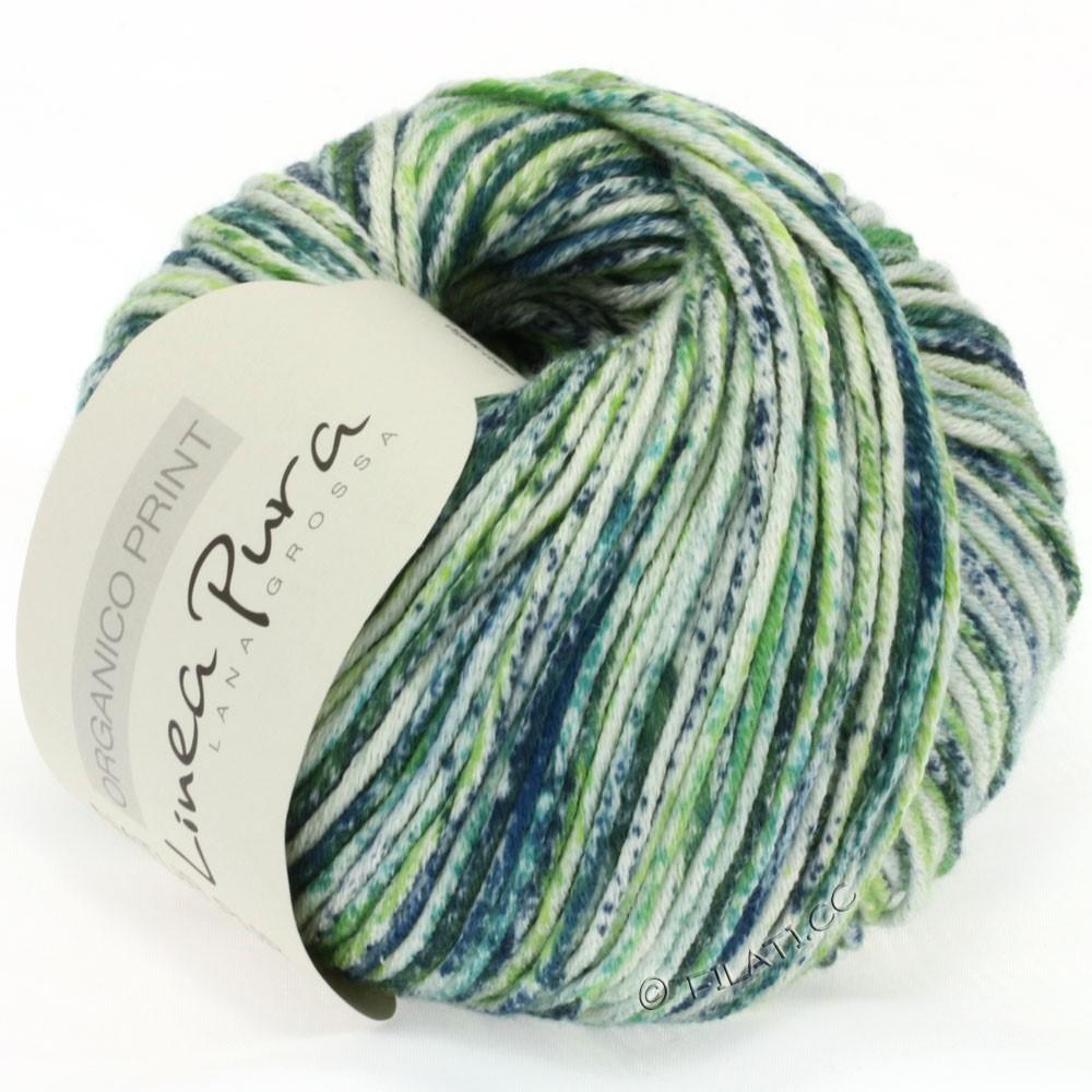 Lana Grossa ORGANICO Print (Linea Pura) | 202-natur/lysegrøn/grøn/petrol