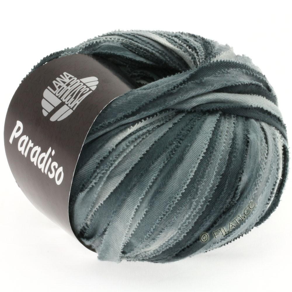 Lana Grossa PARADISO Uni/Print | 305-lysegrå/grøngrå/antracit