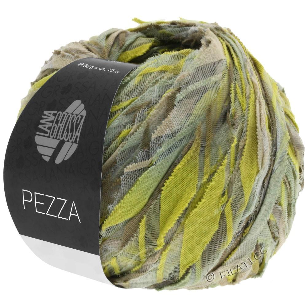 Lana Grossa PEZZA | 02-beige/grøngul/kaki/siv