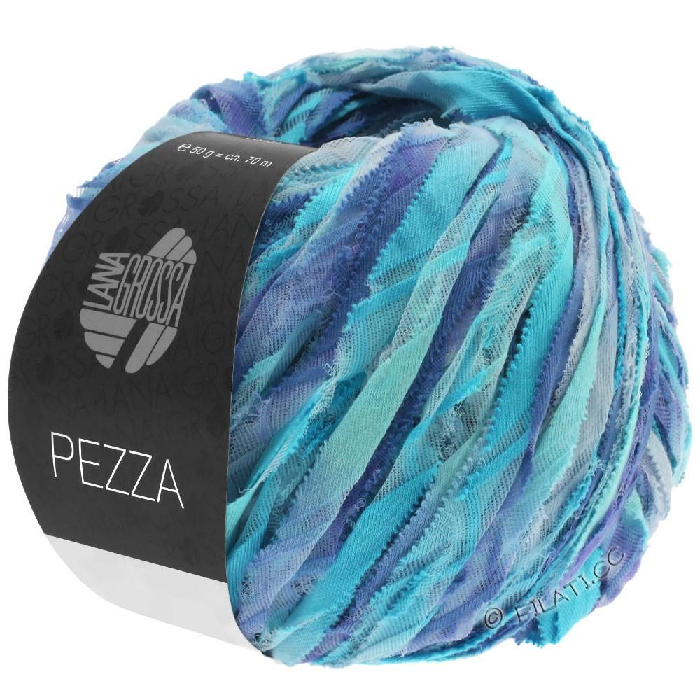 Lana Grossa PEZZA | 10-mynte/turkis/blå violet/purpur blå