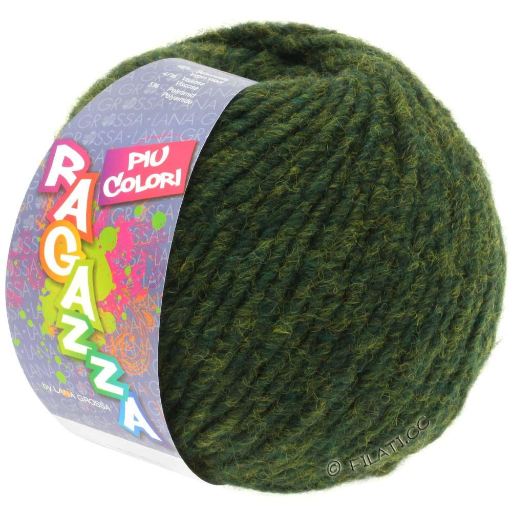 Lana Grossa PIU COLORI (Ragazza) | 02-mørkegrøn meleret