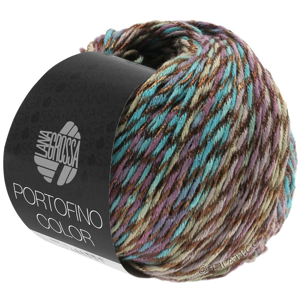 Lana Grossa PORTOFINO Color | 102-petrol/antikviolet/gråbrun
