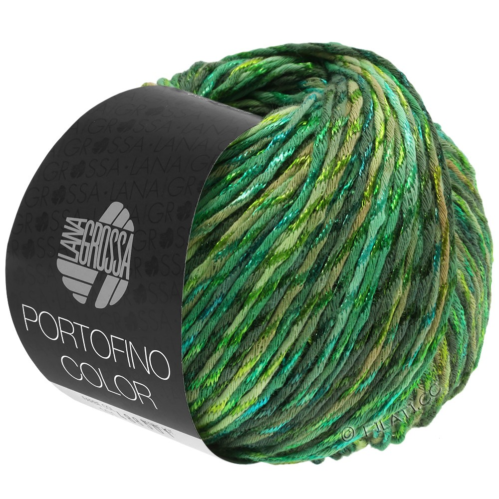 Lana Grossa PORTOFINO Color | 105-sivgrøn/limegrøn/græsgrøn/gran