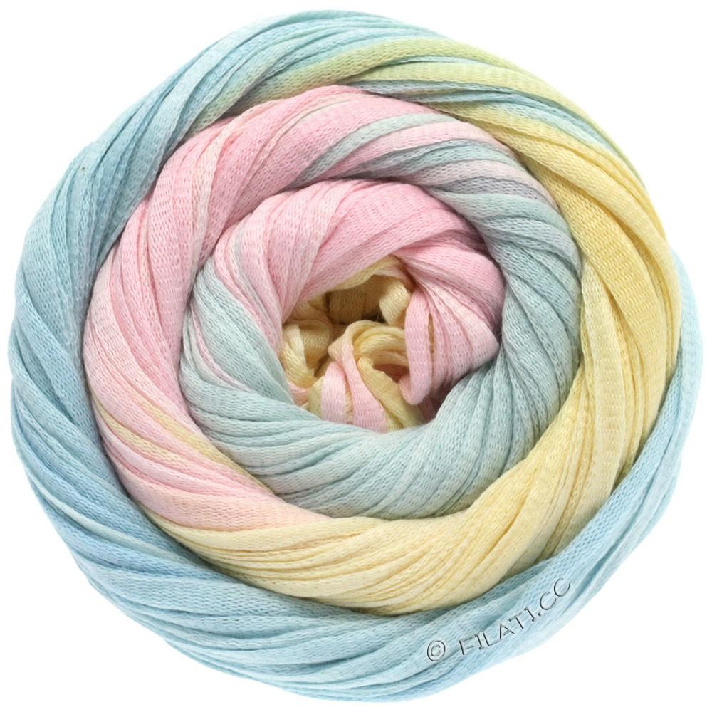 Lana Grossa PRIMAVERA | 108-rosa/isblå/vanilje/mynte
