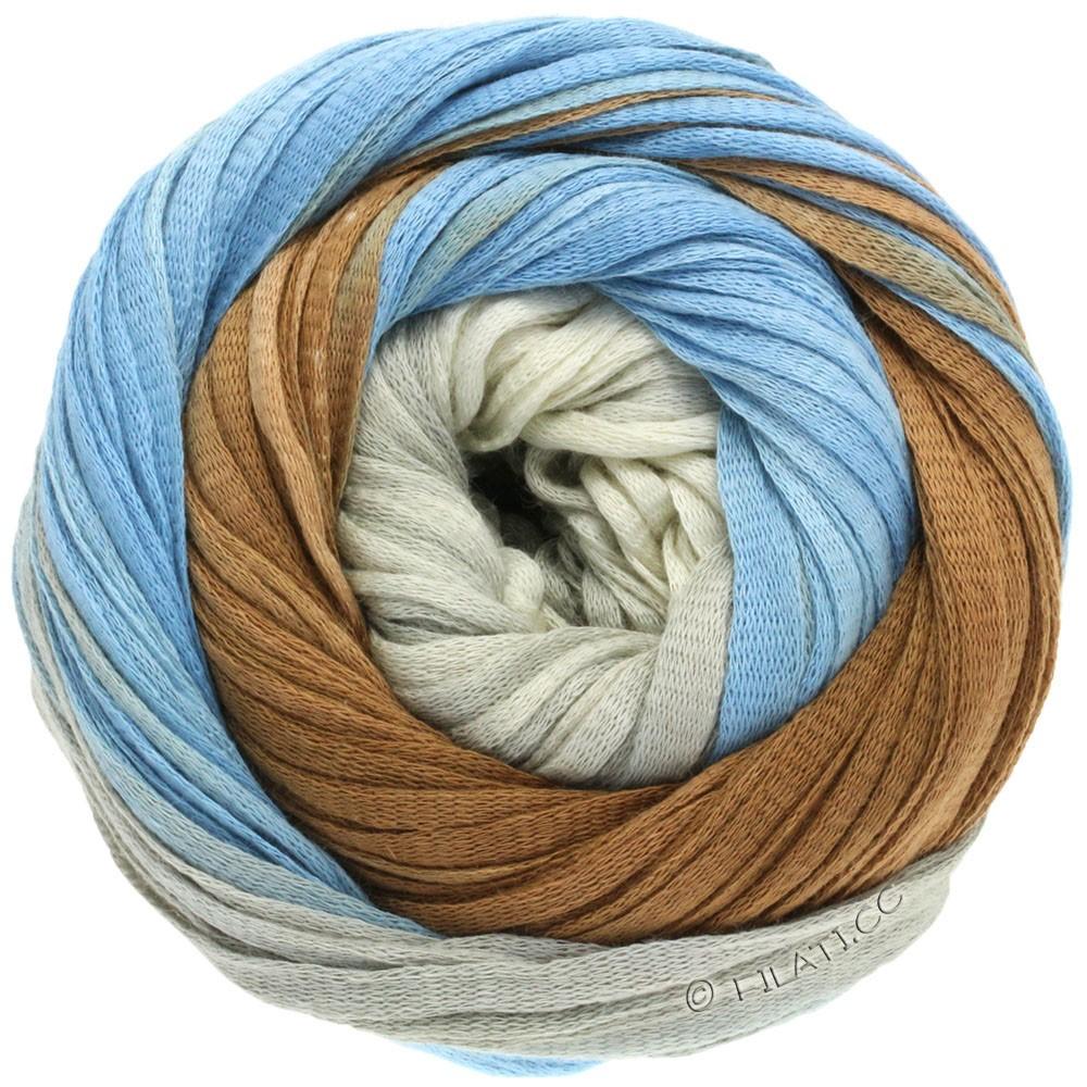 Lana Grossa PRIMAVERA | 112-gråbrun/jeans/betongrå /rå hvid