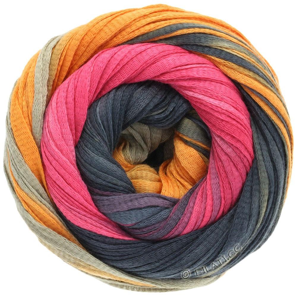Lana Grossa PRIMAVERA | 115-kaki/orange/sortgrå/pink