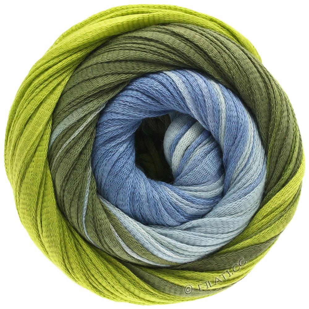 Lana Grossa PRIMAVERA | 122-pastelblå/gulgrøn/mørkoliven