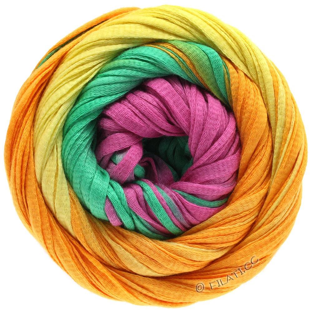 Lana Grossa PRIMAVERA | 124-gul/orange/smaragd/pink