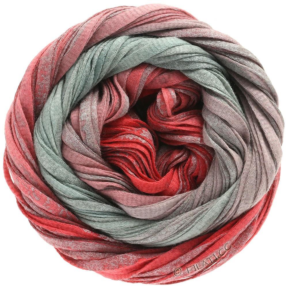 Lana Grossa ROMA Degradé | 302-rød/antik rød/sølv