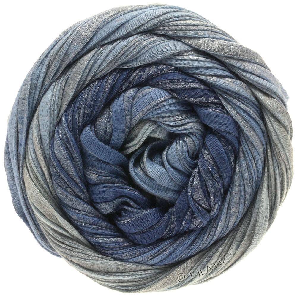 Lana Grossa ROMA Degradé | 303-jeans/dueblå/sølv