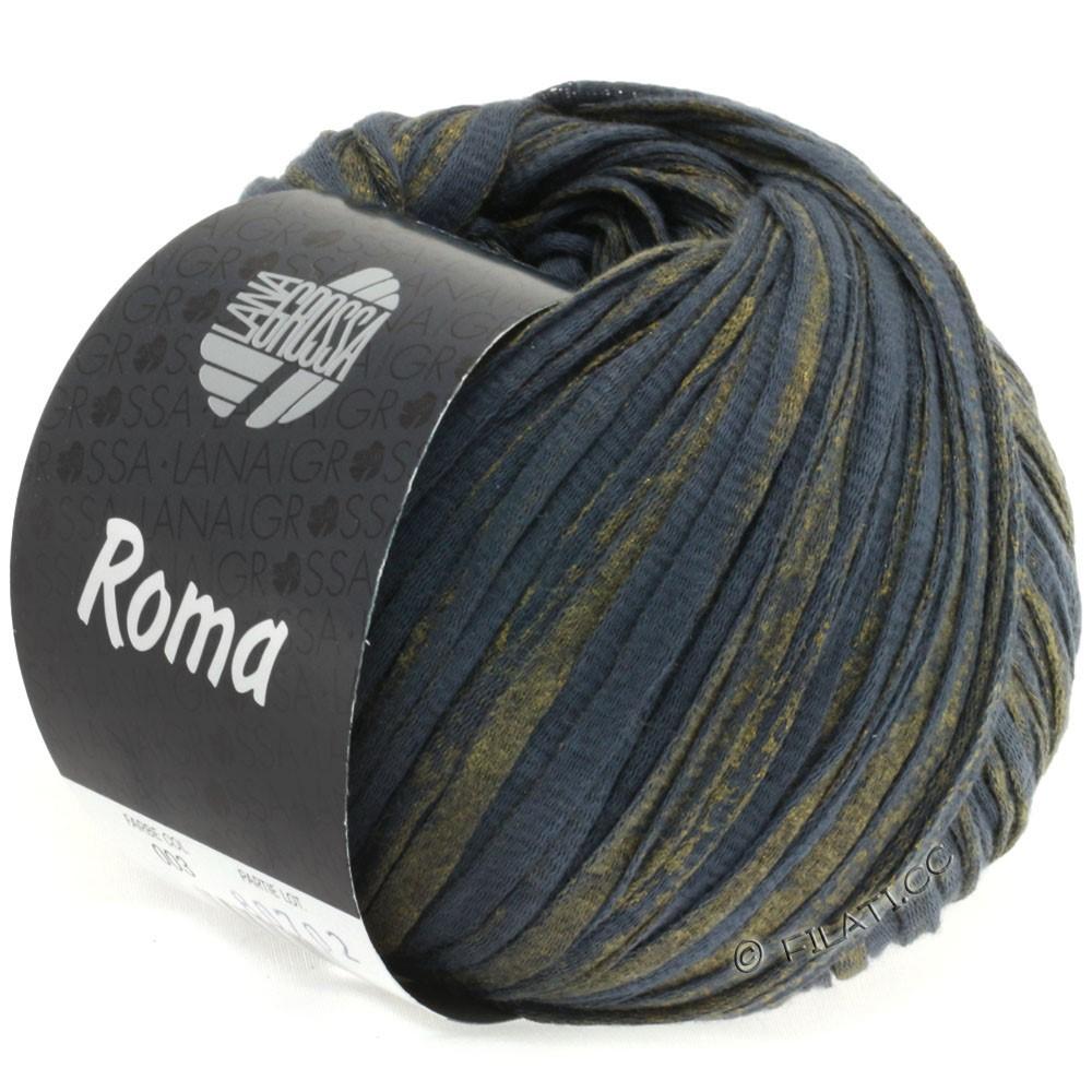 Lana Grossa ROMA | 003-antracit/gylden