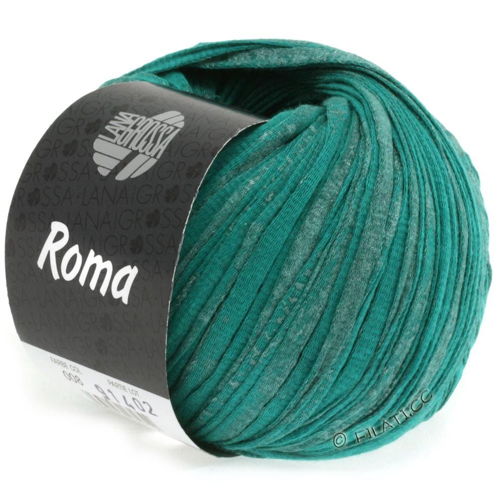 Lana Grossa ROMA | 008-opalgrøn/sølv