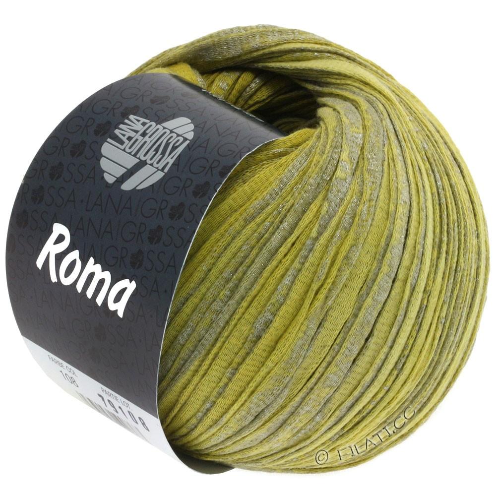 Lana Grossa ROMA | 108-lime/sennepgul/sølv