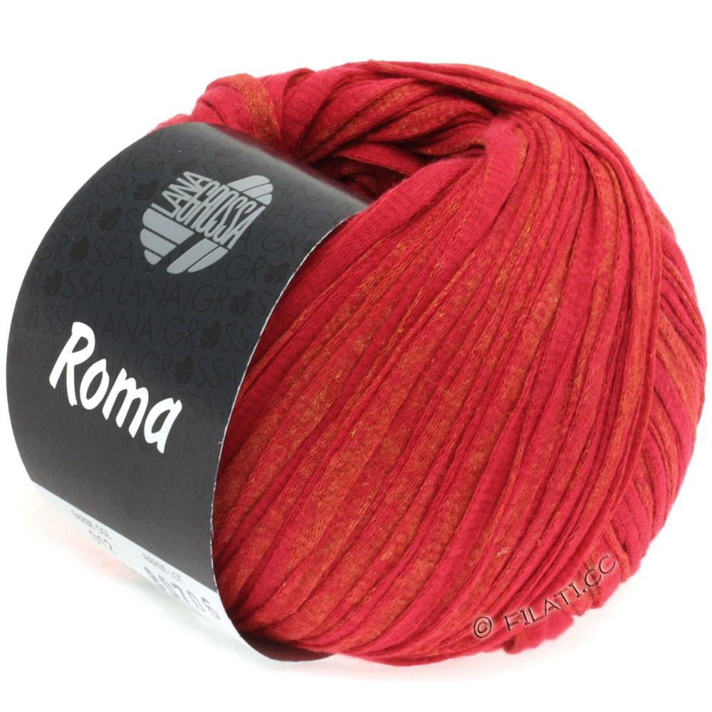 Lana Grossa ROMA | 012-rød/gylden