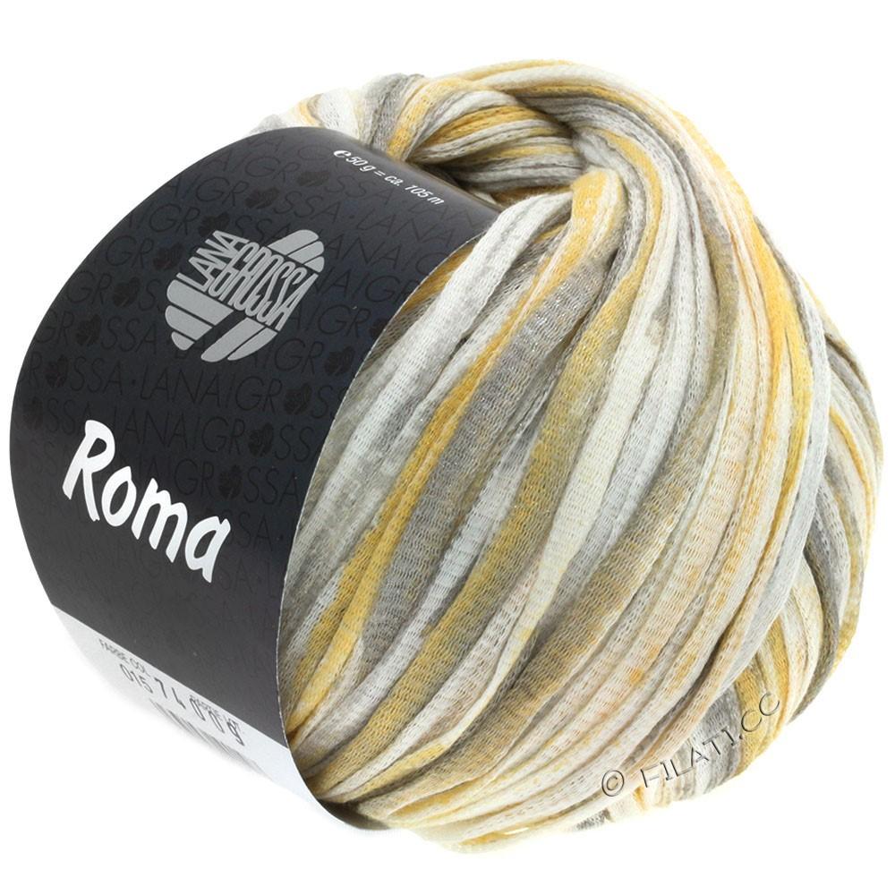 Lana Grossa ROMA | 015-hvid/gylden/sølv