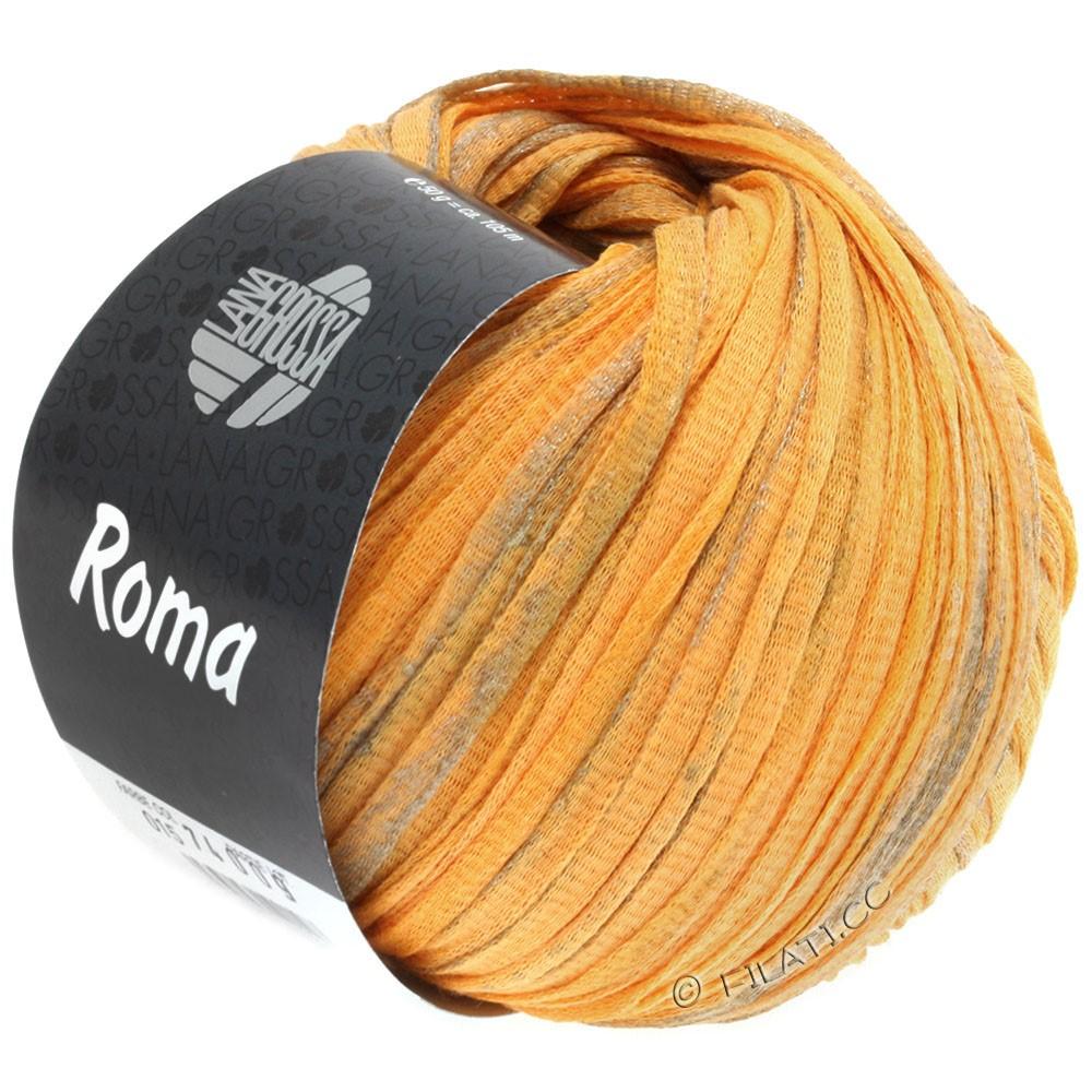 Lana Grossa ROMA | 018-orangegul/sølv/gylden