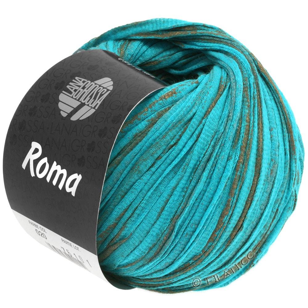 Lana Grossa ROMA | 020-aqua/kobber/sølv