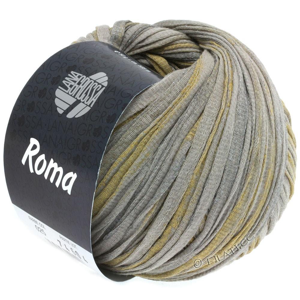 Lana Grossa ROMA | 025-beige/sølv/gylden
