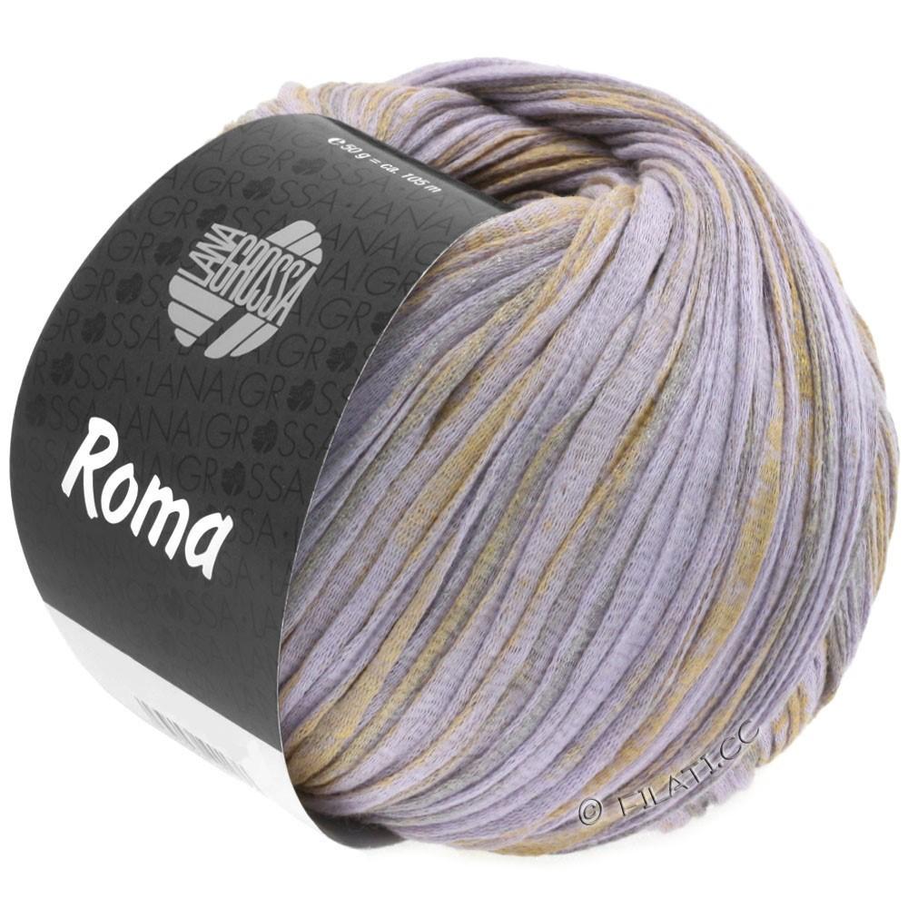 Lana Grossa ROMA | 026-lilla/gylden/sølv